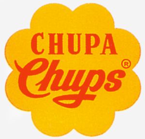 The original Chupa Chups logo, designed by Salvador Dali.